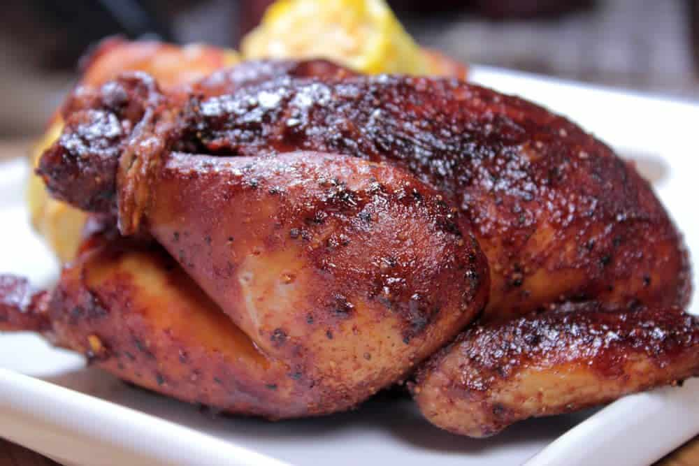 beer brined smoked cornish hen