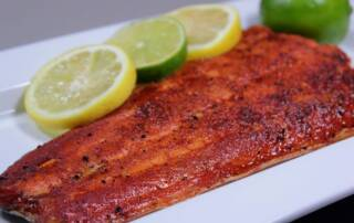 cool smoked salmon with citrus