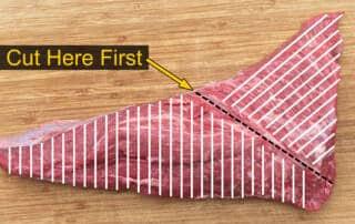 how to slice tri tip diagram