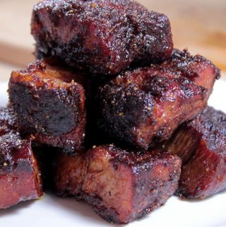 Pork Burnt Ends w/ Spicy Butter Injection