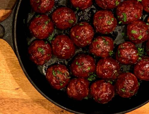 Smoked Beef and Bacon Meatballs