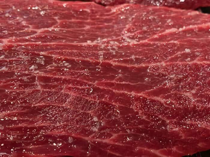 salted steak 1 hour in