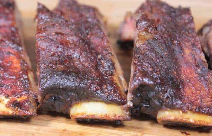 smoked beef back ribs 1