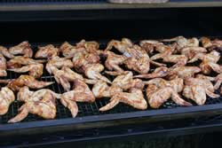 lay chickene wings on grate of smoker