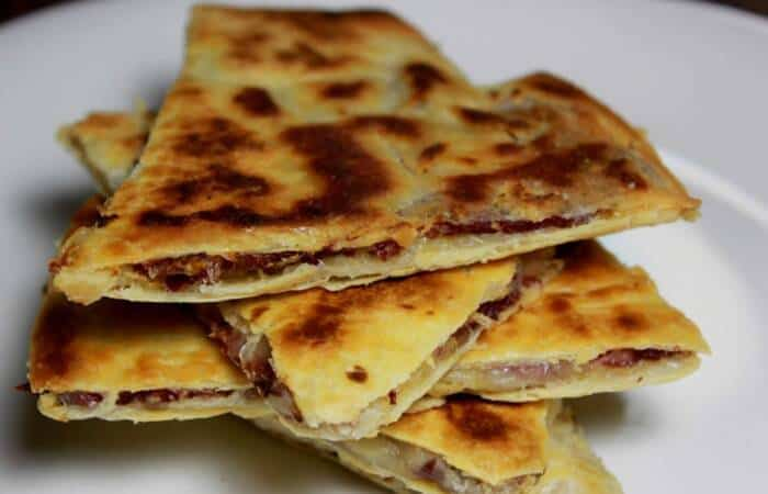 smoked corned beef quesadillas
