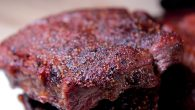 Smoked flat iron steak