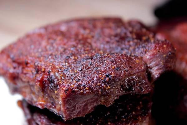 Smoked flat iron steak