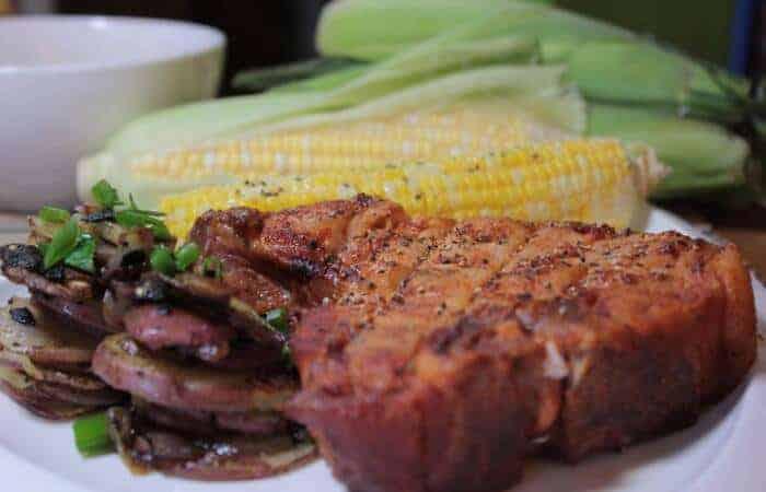 smoked pork chop extra thick