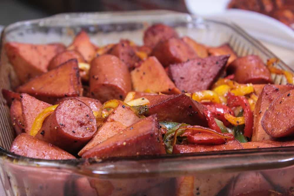 Smoked Sausage And Pepper With Bologna Smoking Meat