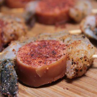 Smoked Pigs on the Beach – Shrimp & Sausage
