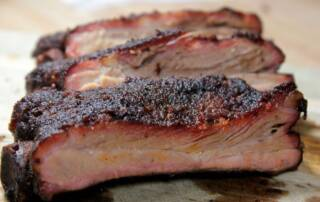 smoked spare ribs with spicy butter injection