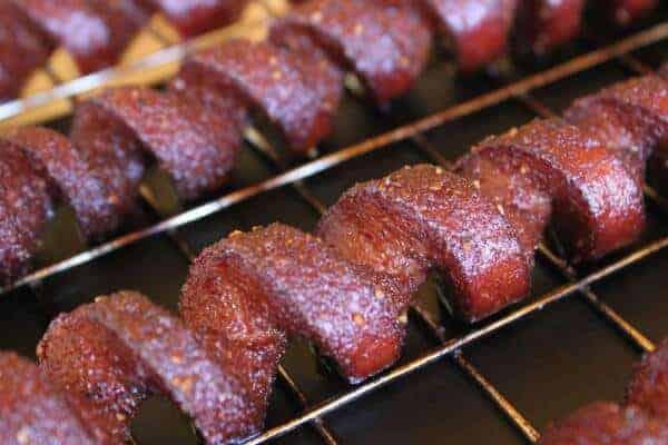 Smoking Meat Com Spiral Cut Hot Dogs