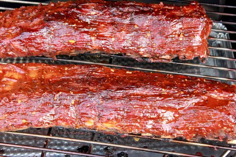 sticky smoked ribs