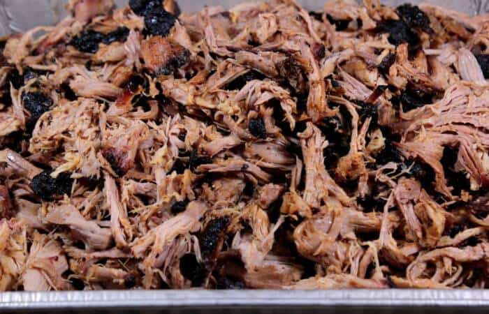 tasty tender smoked pulled pork