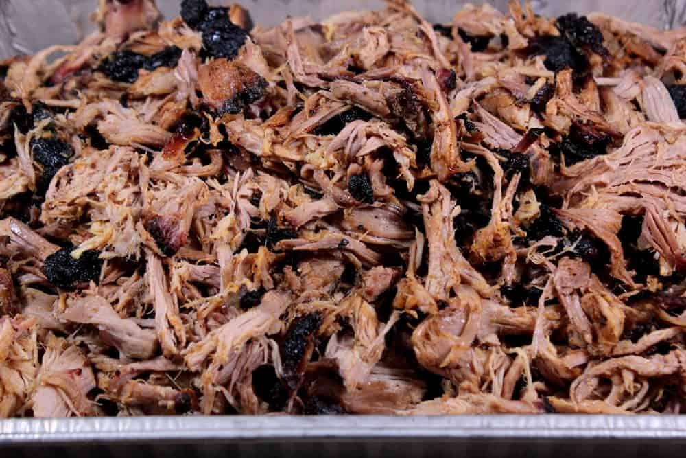 tasty tender smoked pulled pork
