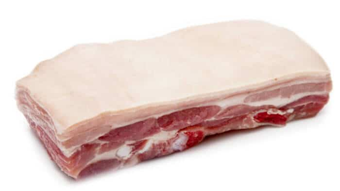 whole pork belly with skin